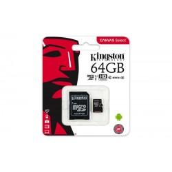 CARTE MICRO SDHC 64GB CLASS U1 + ADAPTATEUR SD