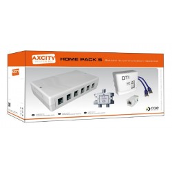 KIT DE BRASSAGE 4 PRISES RJ45 APPARTEMENT